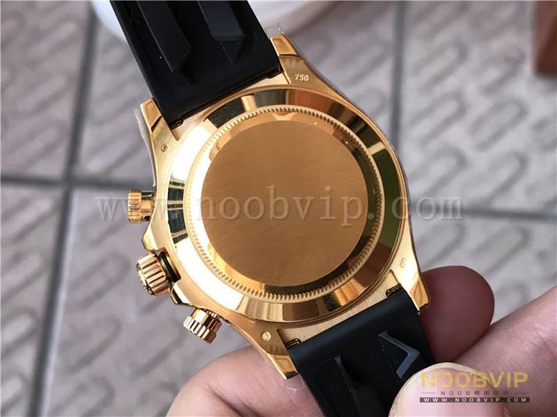 N厂劳力士迪通拿m116518ln-0042金盘胶带腕表实拍评测插图20