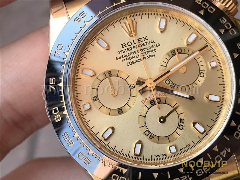 N厂劳力士迪通拿m116518ln-0042金盘胶带腕表实拍评测插图10