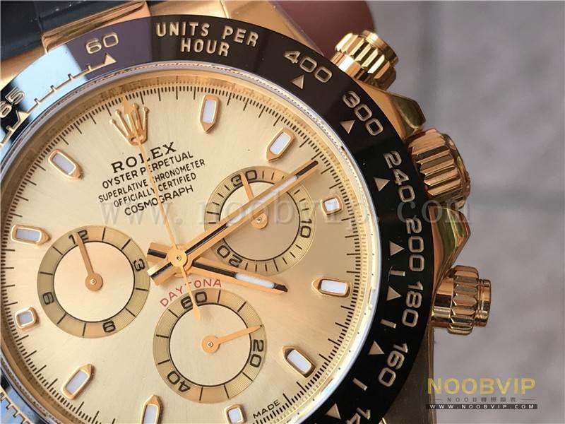N厂劳力士迪通拿m116518ln-0042金盘胶带腕表实拍评测插图14