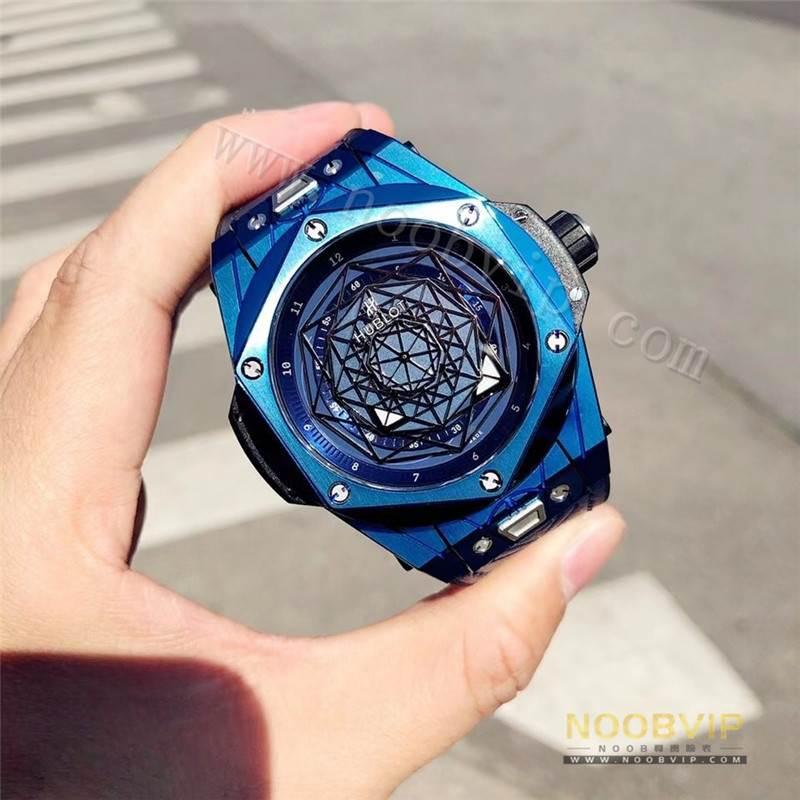 HB厂宇舶恒宝刺青Big Bang Sang Bleu系列腕表V2版评测
