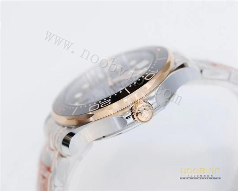 OR厂欧米茄新海马300间玫瑰金黑盘腕表做工怎么样